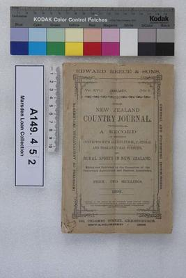 The New Zealand country journal. Vol. 16...1892; 1892; A149.452