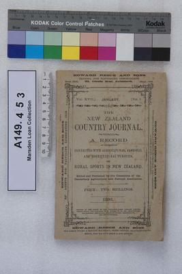 The New Zealand country journal. Vol. 17...1893; 1893; A149.453