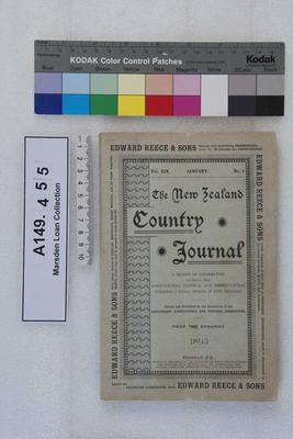 The New Zealand country journal. Vol. 19...1895; 1895; A149.455