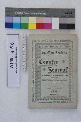 The New Zealand country journal. Vol. 20...1896; 1896; A149.456