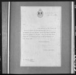 Letter from the Private Secretary, Godfrey Thomas, Government House, to A. Hocton Esq., Dovedale, Nelson