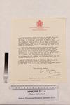 Letter to Miss Catherine J. Ovens, M.B.E. from C.H. Colquhoun, Registrar of the Order of the British Empire